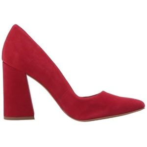 """VINCE CAMUTO """"Talise"""" Holiday Red Suede Heels 8"""